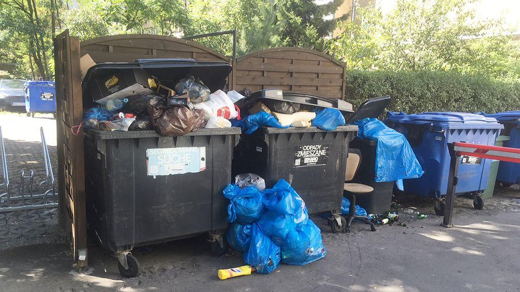 Problem śmieci na Mokotowie. Śmieci przy ul. Grażyny
