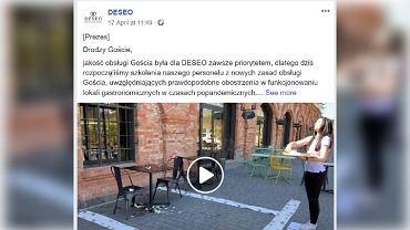 Nowy typ obsługi klienta po pandemii: Filmik ze 'szkolenia' w cukierni robi furorę w sieci