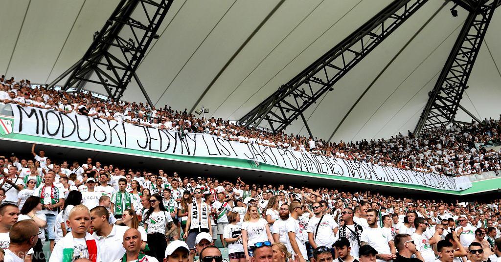 Legia - Zagłębie Sosnowiec. Trybuny na Łazienkowskiej