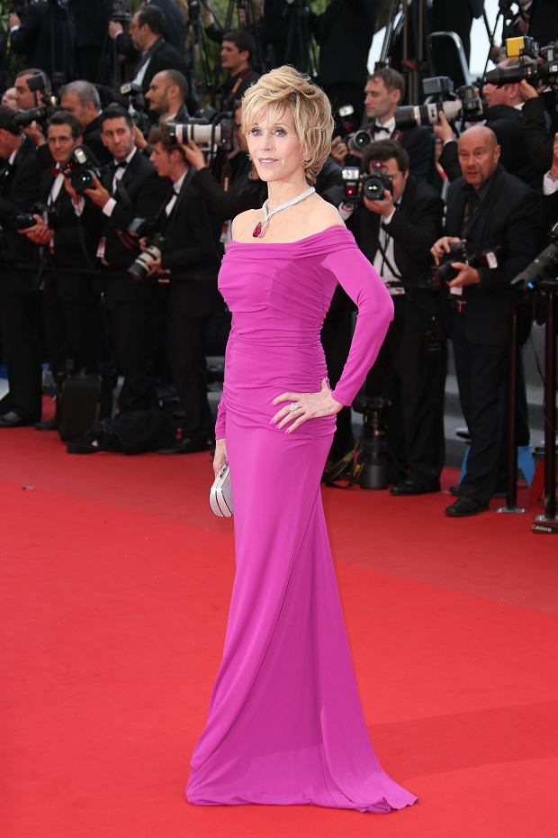 Actress Jane Fonda poses for photographers as she arrives for the screening of the film Inside Llewyn Davis at the 66th international film festival, in Cannes, southern France, Sunday, May 19, 2013. (Photo by Joel Ryan/Invision/AP)