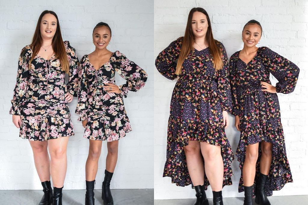 Te same sukienki w różnych rozmiarach