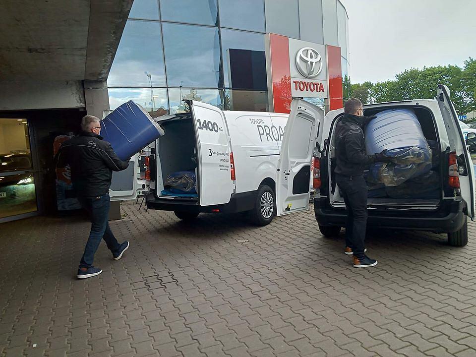 Ładowanie materacy dla DPS w Toyota Carter Gdańsk