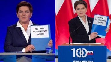 Teczka premier Szydło przed i po wyborach