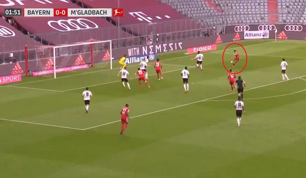 Robert Lewandowski strzelił gola przeciwko Borussii Moenchengladbach!