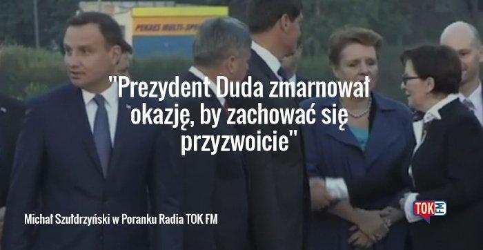 Michał Szułdrzyński o zgrzycie podcas uroczystości na Westerplatte