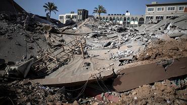 Zniszczenia wywołane przez izraelskie ataki rakietowe.