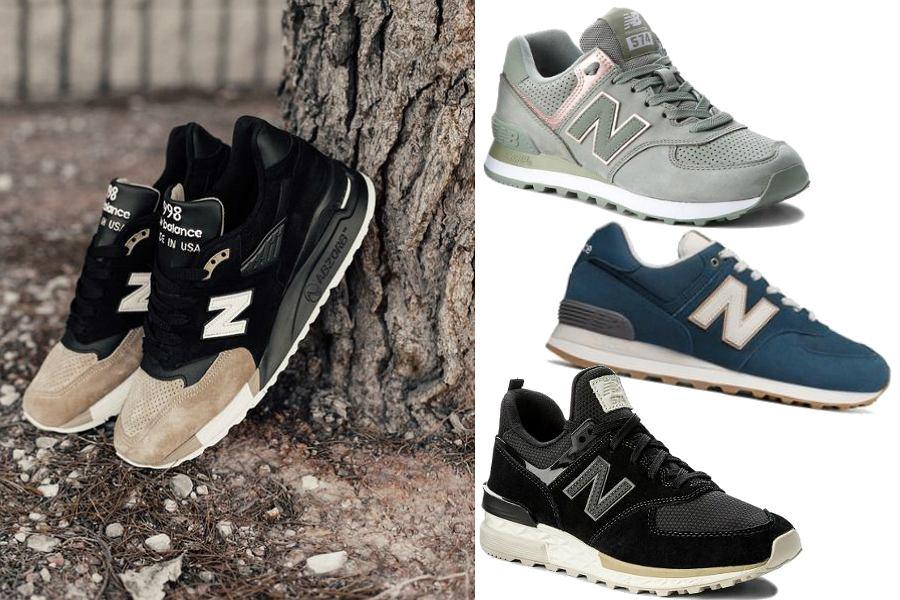 Ciemne sneakersy New Balance