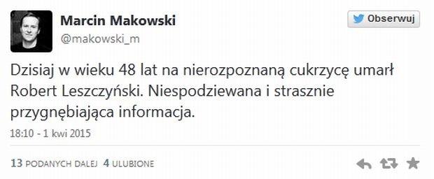Marcin Makowski o śmierci Leszczyńskiego