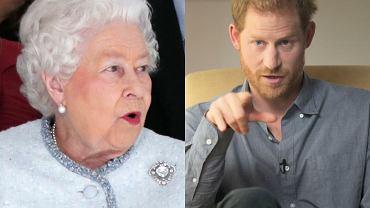 Królowa Elżbieta II, książę Harry