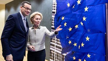 Ursula von der Leyen, szefowa Komisji Europejskiej i premier Mateusz Morawiecki