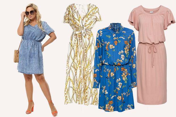 Sukienki wiązane pod biustem są idealne dla kobiet z figurą jabłka