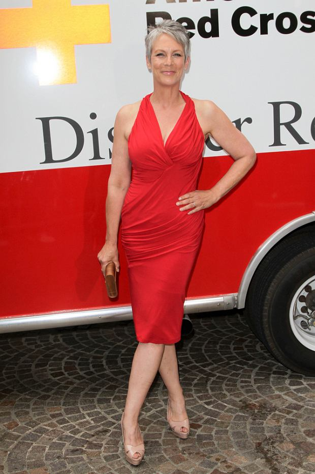 04/21/2012 - Jamie Lee Curtis - The American Red Cross Red Tie Affair 2012 - Arrivals - Fairmont Miramar Hotel, 101 Wilshire Boulevard - Santa Monica, CA, USA - Keywords:  Orientation: Portrait Face Count: 1 - False - Photo Credit: Andrew Evans  / PR Photos - Contact (1-866-551-7827) - Portrait Face Count: 1