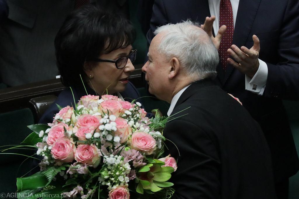 Jarosław Kaczyński i Elżbieta Witek
