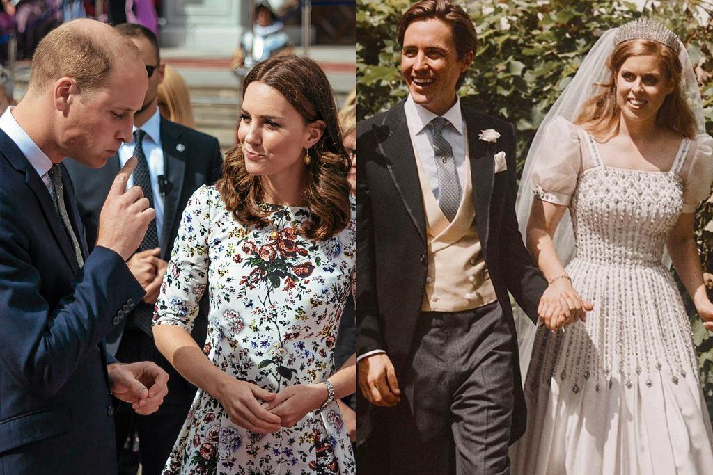Książę William, księżna Kate, księżniczka Beatrice z mężem