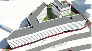 Budynek, który może powstać przy ul. Chartowo - poglądowa wizualizacja
