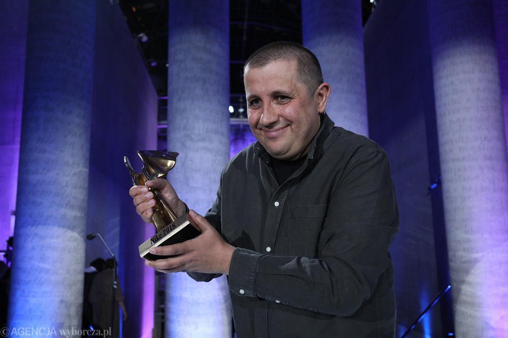 Marcin Wicha podczas gali wręczenia Literackiej Nagrody Nike 2018 / SLAWOMIR KAMINSKI