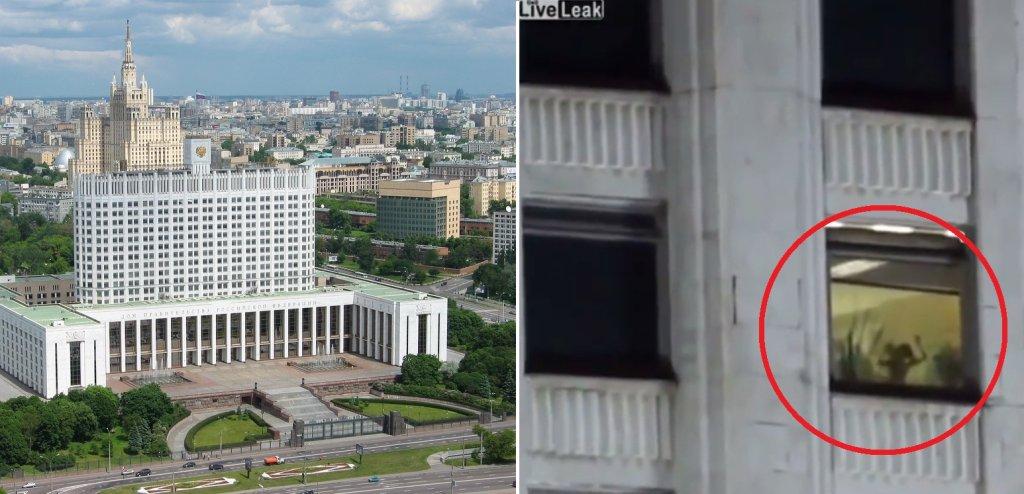 Na nagraniu przyłapano parę w Białym Domu w Moskwie, siedzibie rosyjskiego rządu