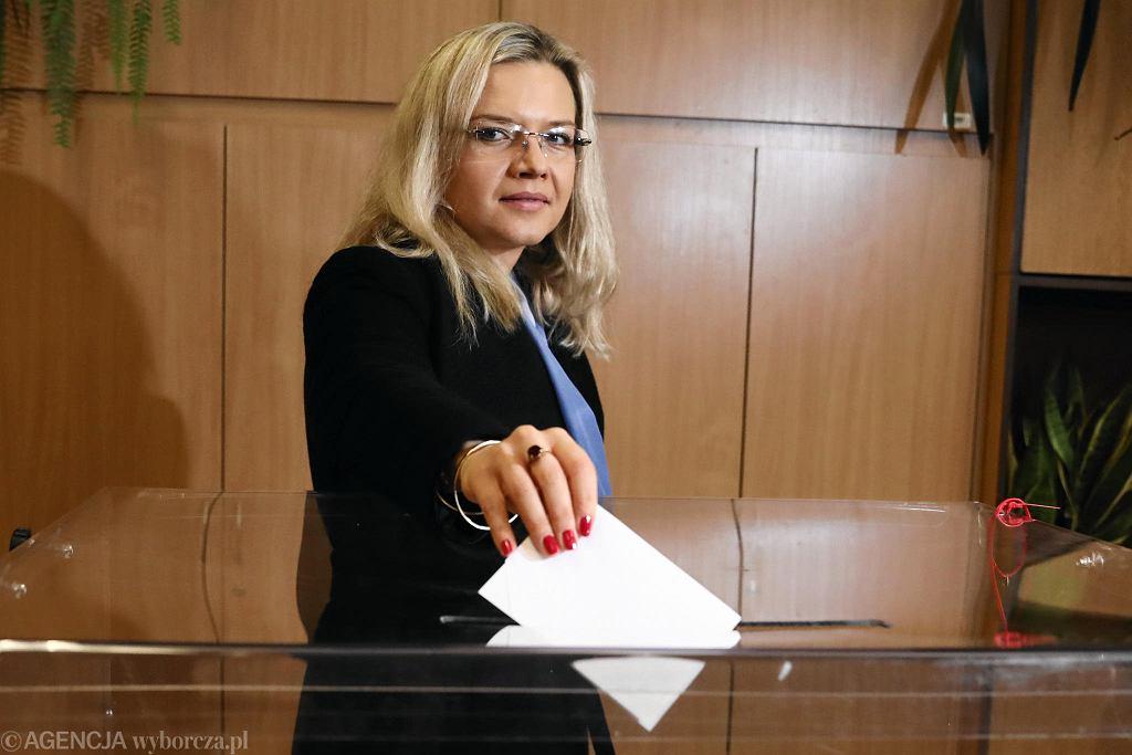 Wybory samorządowe 2018. Małgorzata Wassermann głosowała w komisji przy ul. Księcia Józefa.