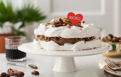 Delecta - Beza pistacjowa z kremem czekoladowym