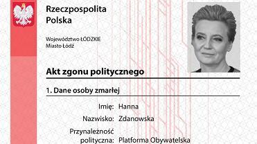Młodzież Wszechpolska wystawiła akty politycznego zgonu 11 prezydentom polskich miast.