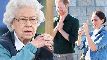 Królowa Elżbieta, Meghan Markle, książę Harry