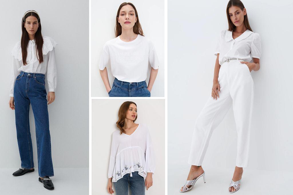 Białe bluzki na lato