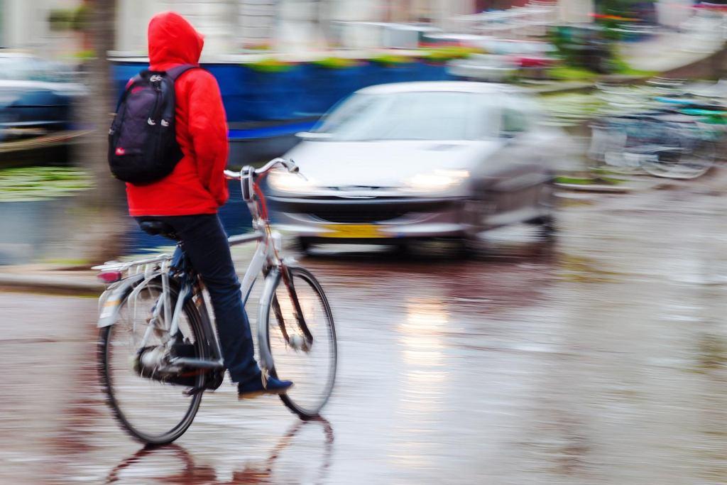 rower jesienią