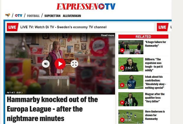 'Koszmarne minuty' Hammarby. Szwedzkie media po zwycięstwie Lecha Poznań