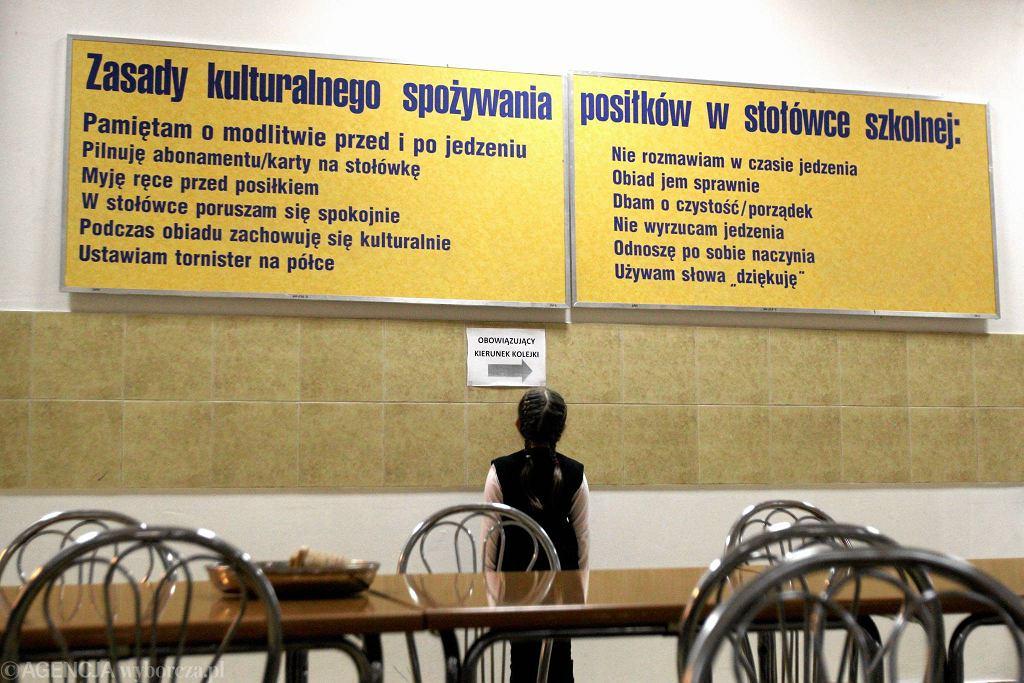 Sąd twierdzi, że ateiści mają w Polsce zagwarantowane takie same prawa jak katolicy. Na zdjęciu stołówka w Szkole Podstawowej nr 51 w Lublinie