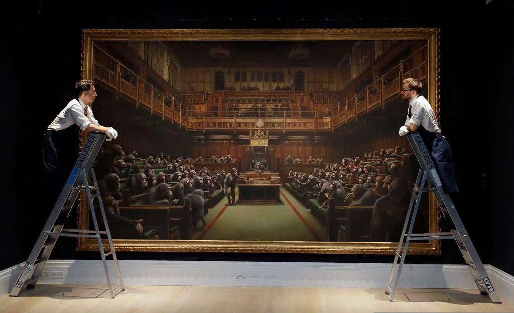 Obraz Banksy'ego 'Devolved Parliament'