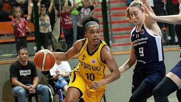 Brittany Boyd (nr 10) ostatnim rzutem za 3 pkt zapewniła Izraelkom zwycięstwo nad gorzowiankami