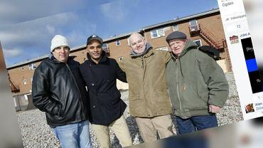 To oni uratowali życie Marcusa, od lewej: Michael Randelman, Marcus Wallace, Phillip Lavigne i Sheridan Ogden
