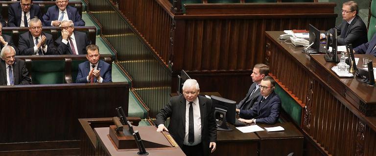 Jarosław Kaczyński w Sejmie: Dziękuję, że tak rozpoczyna się ta kadencja Sejmu