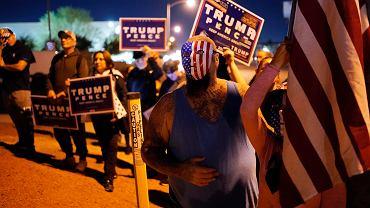 Wybory w USA. Protest zwolenników Trumpa