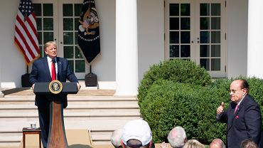 Rudy Giuliani i prezydent Donald Trump