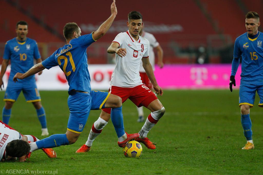 Jakub Moder z Lecha Poznań w meczu Polska - Ukraina potrzebował mniej niż pół minuty na boisku, by strzelić gola na 2:0