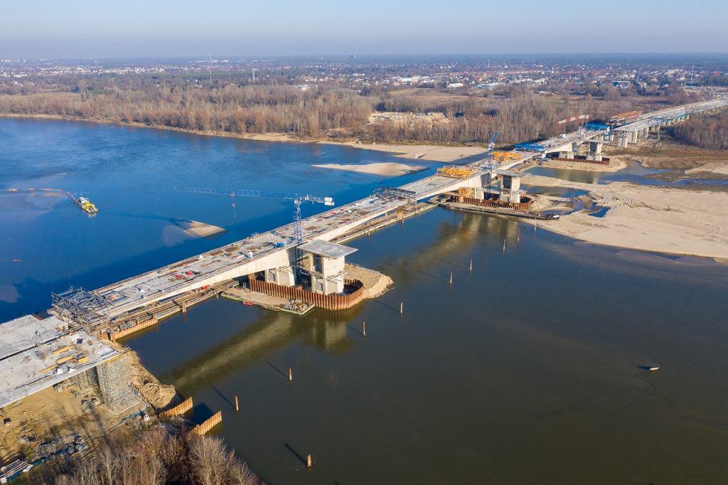 Budowa mostu nad Wisłą na południowej obwodnicy Warszawy