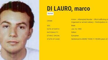 Karta Marco Di Lauro na stronie Europolu.