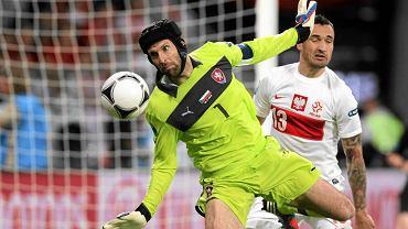 Petr Cech podczas meczu Polska - Czechy we Wrocławiu