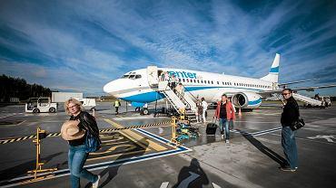 Samolot czarterowy na bydgoskim lotnisku