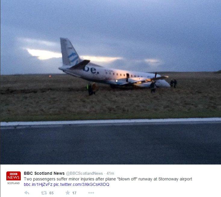 Samolot zepchnięty z pasa startowego