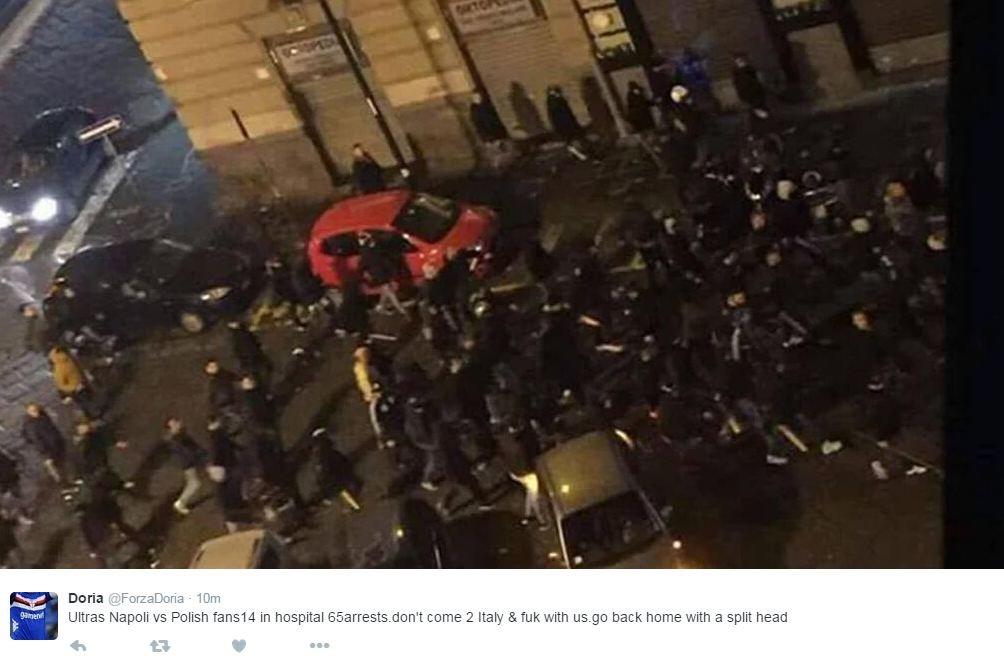 Kibice Legii starli się na ulicach Neapolu z fanami Napoli. Aresztowano 65 Polaków