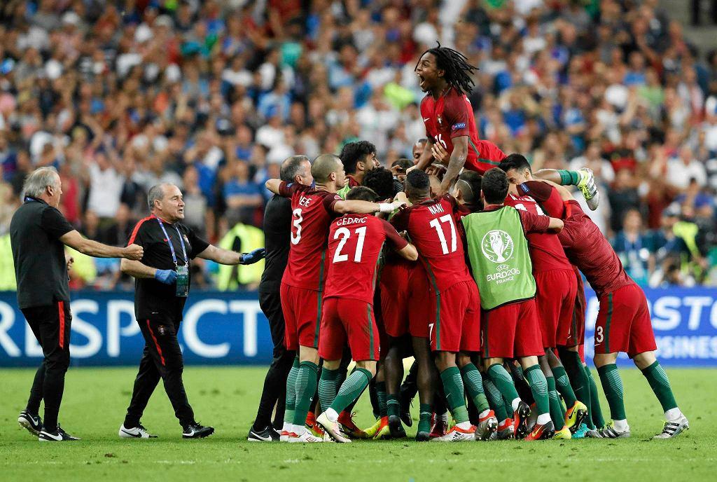 Portugalia - Francja. Radość po golu Edera