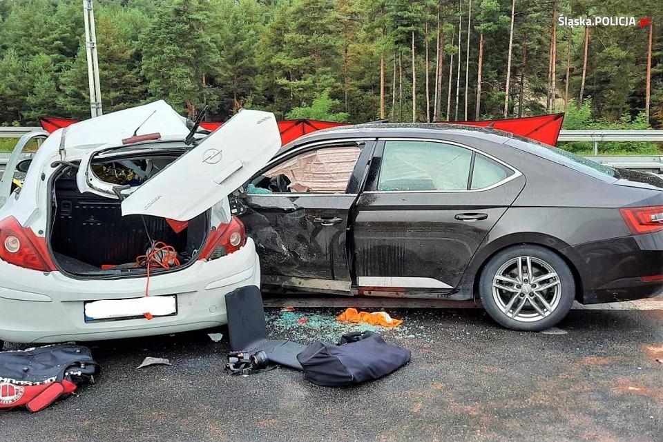 Wypadek drogowy.