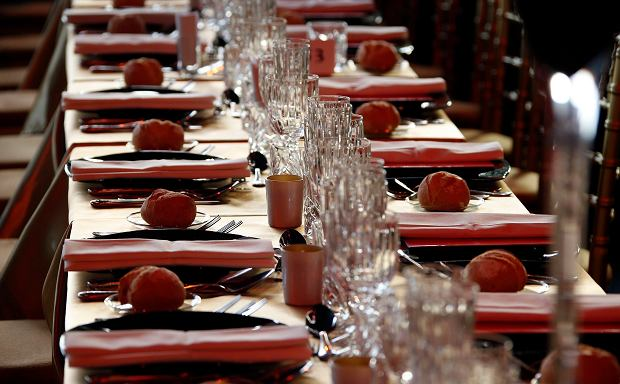 A view of the tables set for guests at the Red Cross Gala in Monte Carlo August 2, 2013. The Red Cross ball is a traditional and annual charity event in the Principality of Monaco. REUTERS/Eric Gaillard (MONACO - Tags: SOCIETY)