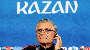 Selekcjoner Adam Nawałka przed meczem fazy grupowej Polska - Kolumbia na Mistrzostwach Świata w Rosji. Kazań, 24 czerwca 2018