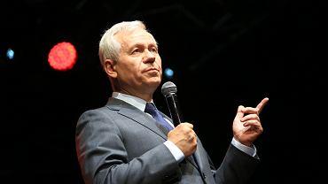 Marek Jurek podczas konwencji wyborczej partii Kukiz'15 w Kinie Palladium w Warszawie (wrzesień 2018)
