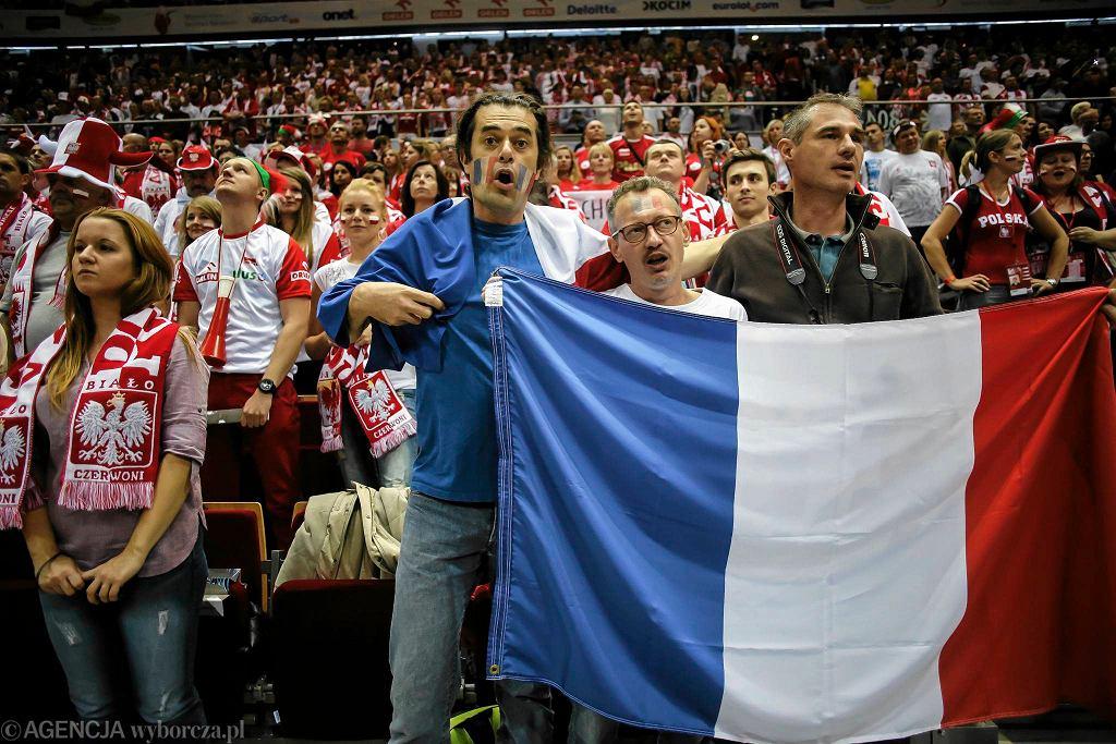 Kibice podczas meczu Polska - Francja w Ergo Arenie