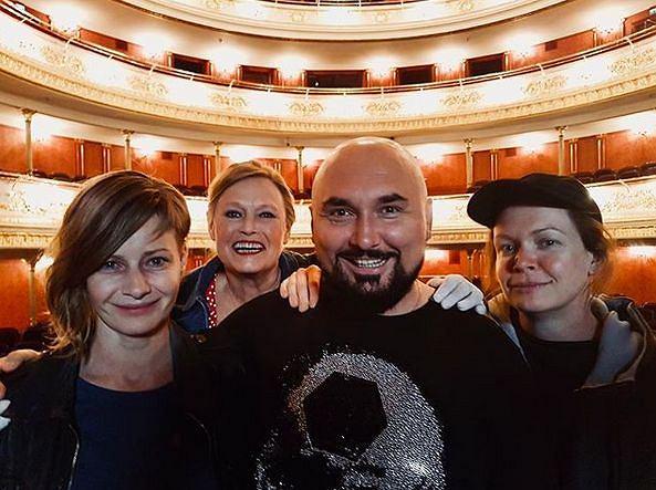 Patryk Vega, Małgorzata Kożuchowska, Iwona Bielska, Daria Widawska na planie 'Plag Breslau'