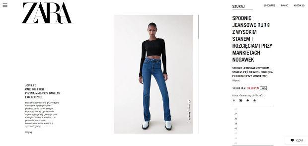 Zara ogłosiła wielką wyprzedaż. Sprzedaje uwielbiane przez kobiety spodnie za 40 zł. Ich krój wyszczupla!